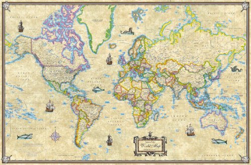 us topo - Antique Style World Map - Wide World Maps & MORE! - Book - Wide World Maps & MORE! - Wide World Maps & MORE!