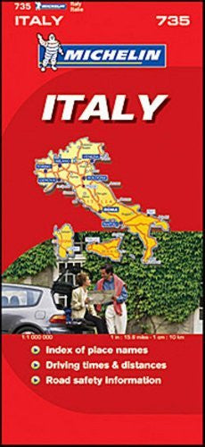 Michelin Map No. 735 Italy Switzerland