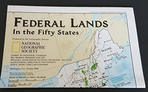 National Geographic Map - Federal Lands in the Fifty States
