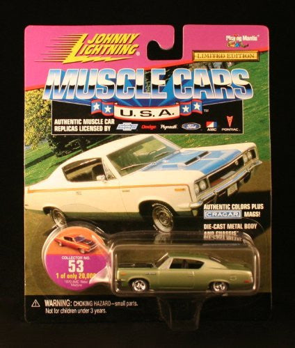 us topo - 1970 AMC REBEL MACHINE * COLLECTOR NO. 53 * Johnny Lightning 1999 MUSCLE CARS U.S.A. COLLECTION 1:64 Scale Die Cast Vehicle * Limited Edition: 1 of only 20,000 * - Wide World Maps & MORE! - Toy - Johnny Lightning - Wide World Maps & MORE!