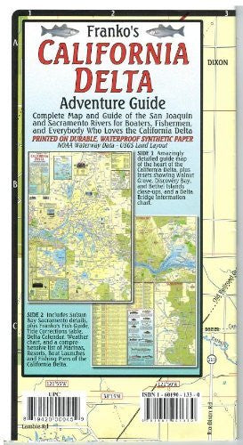us topo - California Delta Adventure Guide - Wide World Maps & MORE! - Office Product - FrankosMaps - Wide World Maps & MORE!