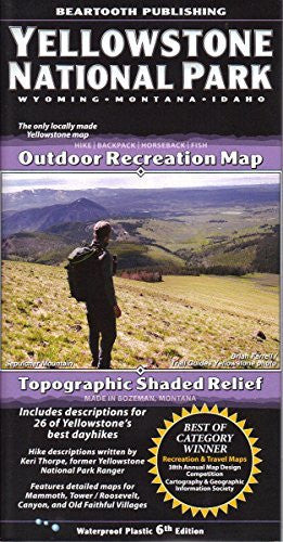 us topo - Yellowstone National Park, Wyoming*Montana*Idaho Topographic Shaded Relief Outdoor Recreation Map - Wide World Maps & MORE! - Book - Wide World Maps & MORE! - Wide World Maps & MORE!
