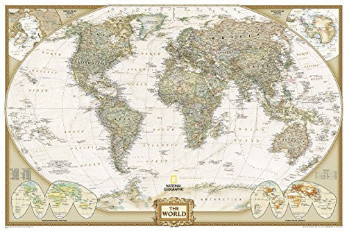 By National Geographic Maps - Ref World Executive [Poster Size and Tubed] (National Geographic Reference Map) (2013)