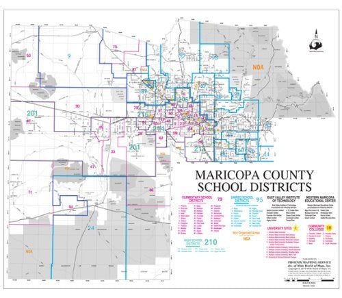 Maricopa County School Districts Dry Erase Laminated