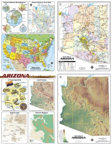 us topo - Arizona Desktop Map (Yellow1) - Wide World Maps & MORE! - Book - Wide World Maps & MORE! - Wide World Maps & MORE!