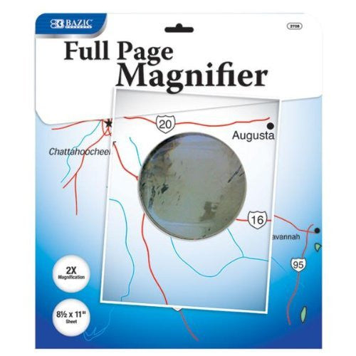 "us topo - Bazic 8.5"" x 11"" 2X Magnifying Sheet - Wide World Maps & MORE! - Office Product - Bazic - Wide World Maps & MORE!"