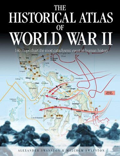 us topo - The Historical Atlas of World War II (Historical Atlas Series) - Wide World Maps & MORE! - Book - Brand: Chartwell Books - Wide World Maps & MORE!