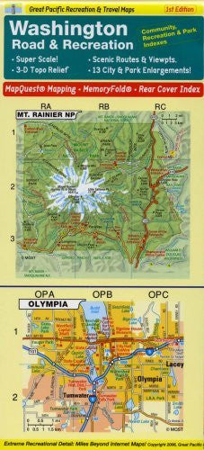 us topo - Washington State Road & Recreation MemoryFold Map, 3rd Edition - Wide World Maps & MORE! - Book - Wide World Maps & MORE! - Wide World Maps & MORE!