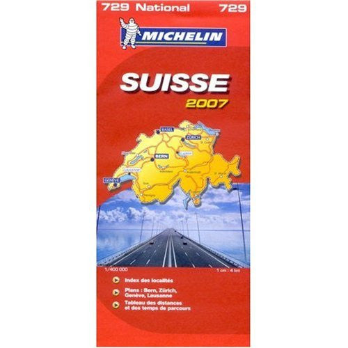 Michelin Map No. 729 Switzerland, Scale 1:400,000 (Michelin Guides)