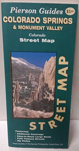 Colorado Springs & Monument Valley, Colorado, street map: Street map - Wide World Maps & MORE! - Book - Wide World Maps & MORE! - Wide World Maps & MORE!