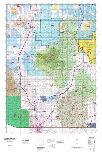 us topo - Arizona GMU 34A Hunt Area / Game Management Units (GMU) Map - Wide World Maps & MORE! - Book - Wide World Maps & MORE! - Wide World Maps & MORE!