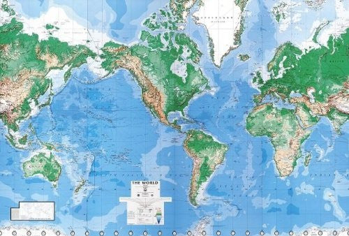 us topo - Environmental Graphics Giant World Map Wall Mural - Dry Erase Surface - Wide World Maps & MORE! - Home Improvement - Environmental Graphics - Wide World Maps & MORE!