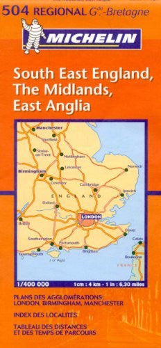 us topo - Michelin Map Great Britain: South East England, The Midlands, East Anglia 504 (Maps/Regional (Michelin)) - Wide World Maps & MORE! - Book - Wide World Maps & MORE! - Wide World Maps & MORE!