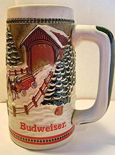 Budweiser Holiday Steins Collectable Holiday Stein Series