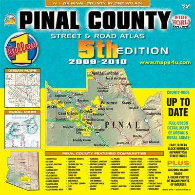 Pinal County Street & Road Atlas 2010 Standard Edition (Yellow1)