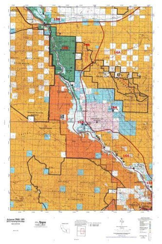us topo - Arizona 16B Hunt Area / Game Management Units (GMU) Map - Wide World Maps & MORE! - Book - Wide World Maps & MORE! - Wide World Maps & MORE!