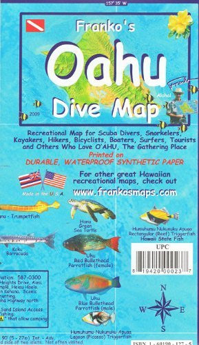 us topo - Franko's Dive Map of Oahu - Wide World Maps & MORE! - Book - Wide World Maps & MORE! - Wide World Maps & MORE!