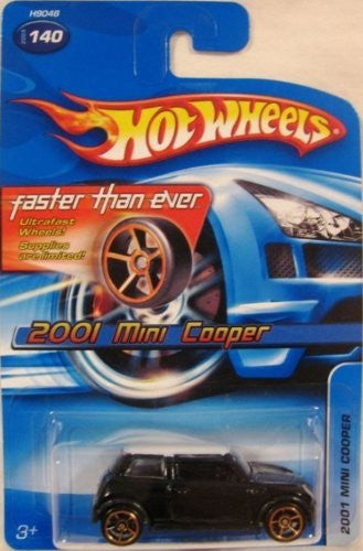 us topo - #2005-140 2001 Mini Cooper Faster Than Ever Wheels Collectible Collector Car Mattel Hot Wheels 1:64 Scale - Wide World Maps & MORE! - Toy - Hot Wheels - Wide World Maps & MORE!