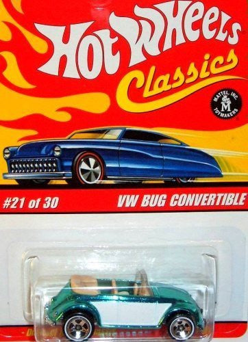 Hot Wheels Classic Series 2: VW Bug Convertible - Wide World Maps & MORE! - Toy - Hot Wheels - Wide World Maps & MORE!
