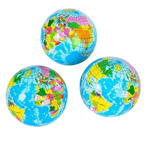 "us topo - 3"" Squeeze Globe - Wide World Maps & MORE! - Toy - Rhode Island Novelty - Wide World Maps & MORE!"