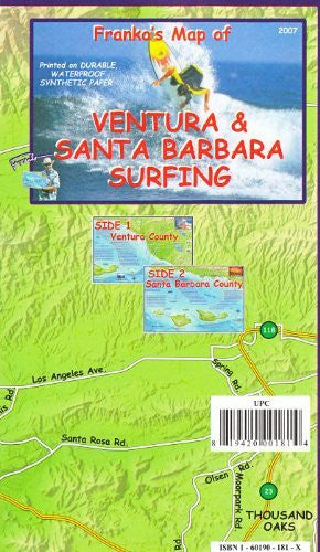 us topo - Franko's Map of Ventura & Santa Barbara Surfing - Wide World Maps & MORE! - Book - FrankosMaps - Wide World Maps & MORE!