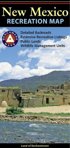 us topo - New Mexico Recreation Map - Wide World Maps & MORE! - Book - Benchmark - Wide World Maps & MORE!