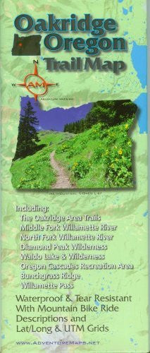 2015 Oakridge Oregon Trail Map - Wide World Maps & MORE! - Map - Adventure Maps - Wide World Maps & MORE!