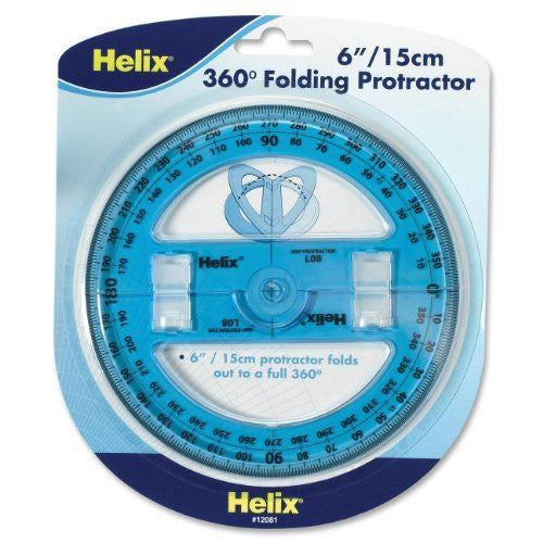 Helix 6 inch 360 Degree Folding Protractor (12081)