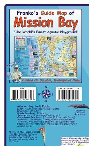 us topo - Mission Bay San Diego Guide Franko Maps Waterproof Map - Wide World Maps & MORE! - Book - Wide World Maps & MORE! - Wide World Maps & MORE!