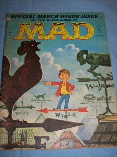 Special March Winds Issue By the Blowhards At Mad Magazine April 1961 (April 1961 Vol 1, Number 62, April 1961 Vol 1, Number 62)