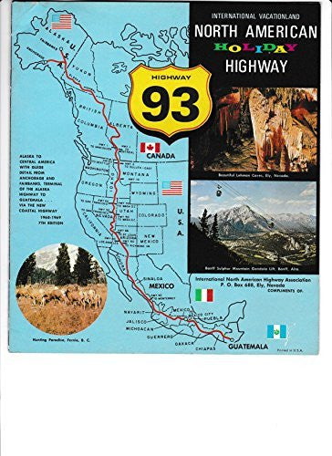 us topo - NORTH AMERICAN HOLIDAY HIGHWAY 93, Scenic Direct, International Vacationland, Vacation Way, More to See on 93. (Promotional booklet). - Wide World Maps & MORE! - Book - Wide World Maps & MORE! - Wide World Maps & MORE!