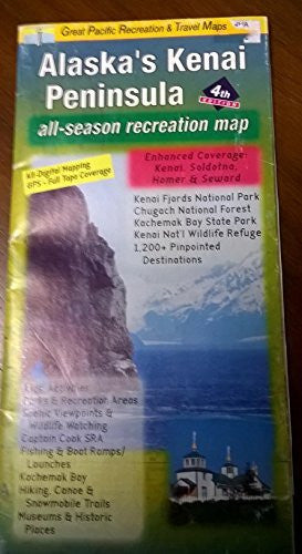 us topo - Kenai Peninsula, AK - Wide World Maps & MORE! - Office Product - Great Pacific Recreation Map - Wide World Maps & MORE!
