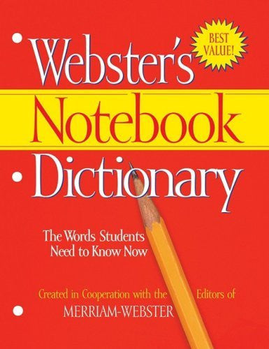 Merriam-Webster Notebook Dictionary, Three Hole Punched, Paperback, 80 Pages (MERFSP0566)