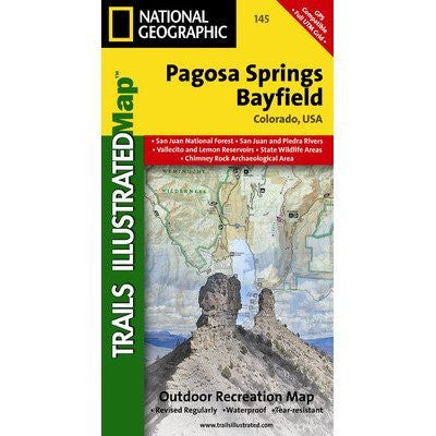 Trails Illustrated Map Pagosa Springs / Bayfield