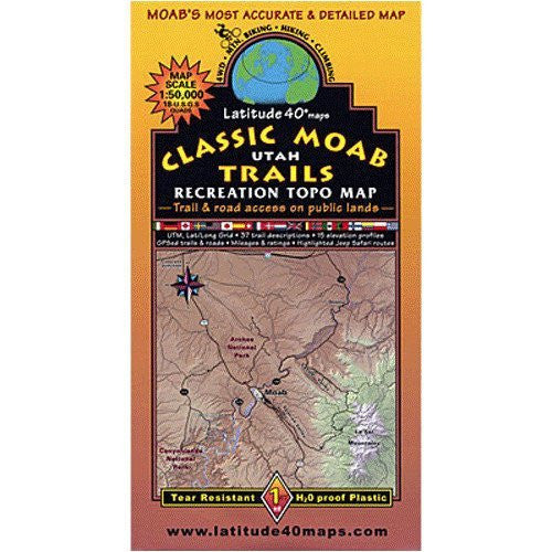 us topo - Latitude 40 Classic Moab Trails - Wide World Maps & MORE! - Art and Craft Supply - Latitude 40, Inc. - Wide World Maps & MORE!