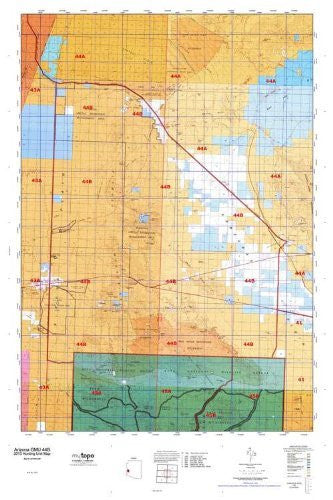 us topo - Arizona GMU 44B Hunt Area / Game Management Units (GMU) Map - Wide World Maps & MORE! - Book - Wide World Maps & MORE! - Wide World Maps & MORE!