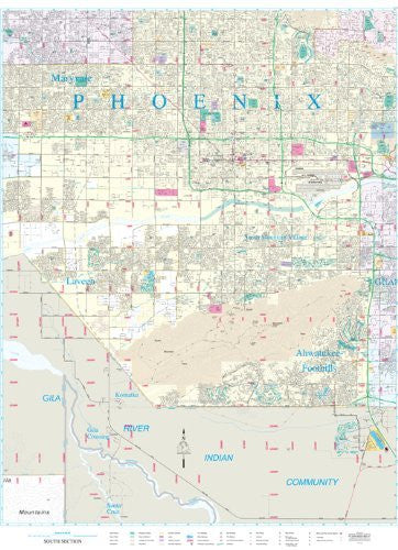 us topo - Phoenix Metropolitan Area South Section Dry Erase Laminated - Wide World Maps & MORE! - Map - Wide World Maps & MORE! - Wide World Maps & MORE!