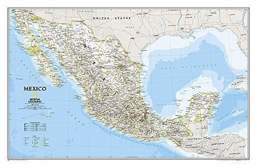 Mexico Classic [Tubed] (National Geographic Reference Map)