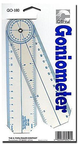 Westcott Goniometer Quick-Angle Protractor [2 Pieces] - Product Description - Westcott Goniometer Quick-Angle Protractor- Unit: Eachlegs Rotate Around Protractor Scale To Read Angles. 7 In. Arms Open To 12 In. Includes In. And Metric Scales. 1 3 ...