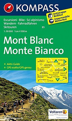 Mont Blanc 85 Gps Wp Kompass Dif - Wide World Maps & MORE! - Book - Wide World Maps & MORE! - Wide World Maps & MORE!