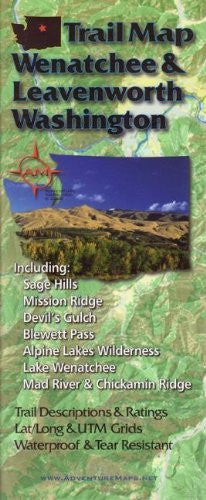 us topo - Wenatchee and Leavenworth Trail Map - Wide World Maps & MORE! - Book - Wide World Maps & MORE! - Wide World Maps & MORE!