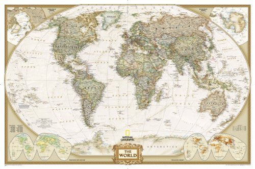 us topo - World Executive Wall Map Enlarged & Laminated (National Geographic) (World Maps S.) - Wide World Maps & MORE! - Book - Wide World Maps & MORE! - Wide World Maps & MORE!