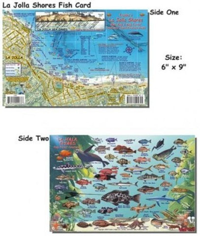 Franko Maps La Jolla Shores Fish ID for Scuba Divers and Snorkelers by 699