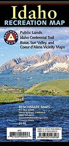 Idaho Recreation Map (Benchmark Maps: Idaho)