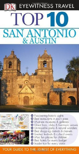 us topo - Top 10 San Antonio and Austin (Eyewitness Top 10 Travel Guides) - Wide World Maps & MORE! - Book - Brand: DK Travel - Wide World Maps & MORE!