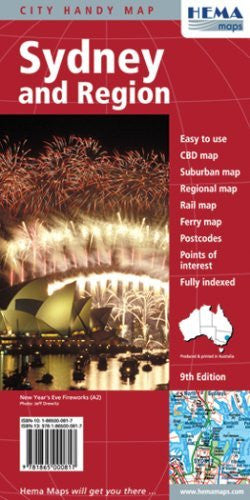 Sydney & Region Handy Map - Wide World Maps & MORE! - Book - HEMA - Wide World Maps & MORE!
