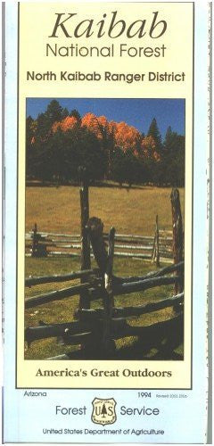 Kaibab National Forest Map (North Kaibab Ranger District) - Waterproof