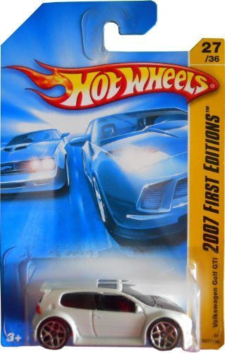 us topo - Hot Wheels Vw Golf GTI White 5y Wheels #27 1/64 2007 - Wide World Maps & MORE! - Toy - Mattel - Wide World Maps & MORE!