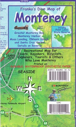 Franko's Map of Monterey, California - Wide World Maps & MORE! - Map - Franko Maps - Wide World Maps & MORE!