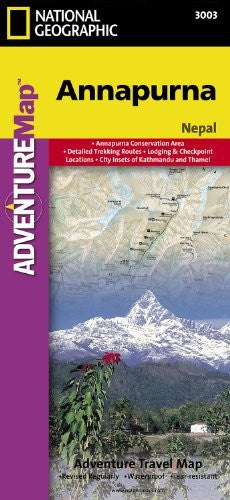 National Geographic Annapurna: Trails Illustrated Trekking Adventure Map (National Geographic Adventure Map) (National Geographic Map)